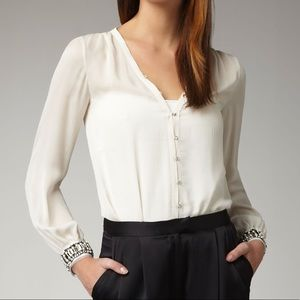 Elizabeth & James Chantal Embellished Blouse